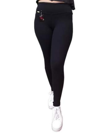 Calça legging fitness suplex de poliamida