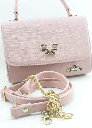Bolsa feminina pequena de alça ou de mão