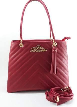 Bolsa feminina média vermelha com divisórias barata promoção