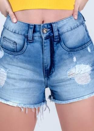 Short aluza jeans rasgado