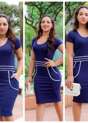 Vestido midi godê roupas femininas barato moda evangélica preço baixo promoção