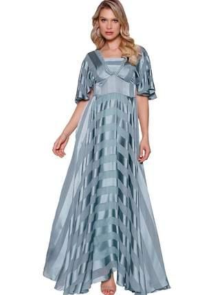 Vestido fasciniu's longo fascinius roupas evangélicas