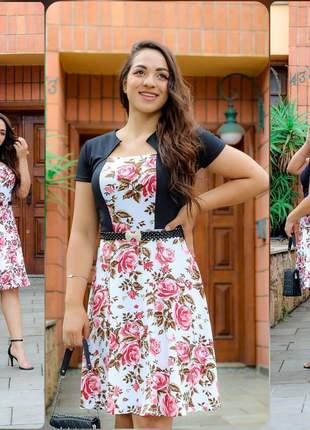 Vestido feminino moda evangélica jovens luxo godê rodado social executivo promoção