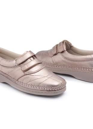 Sapato sapatilha sapatênis feminina couro  antiderrapante diabéticos