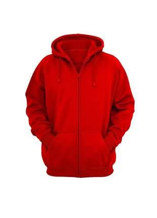 Casaco de frio inverno moletom vermelho