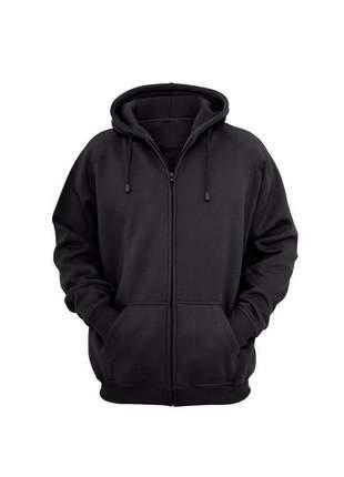 Moletom preto flanelado casaco feminino
