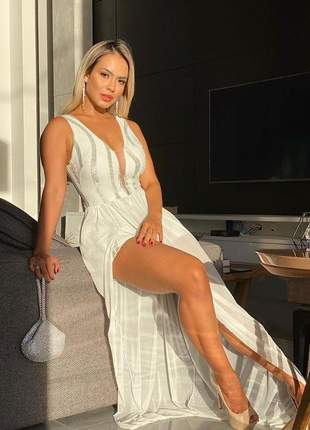 Vestido lorena branco longo
