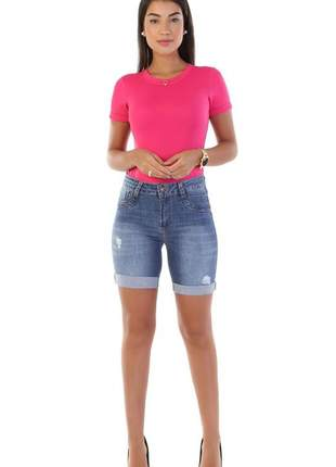 Shorts bermuda feminina jeans sawary do 38 ao 46