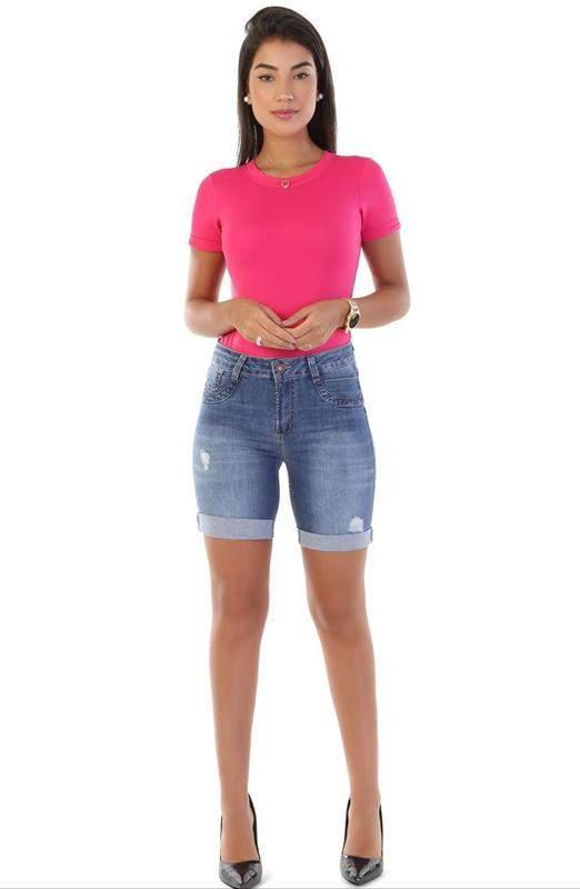 Imperio Totthem / Shorts bermuda feminina jeans sawary do 38 ao 46