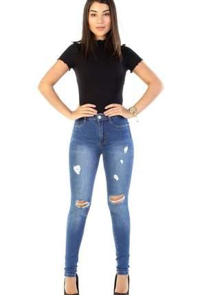 Calça jeans feminina sawary super lipo com cinta 263544