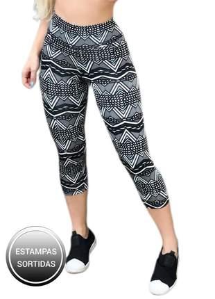 2 calça feminina corsário fitness legging crossfit cós alto ref 11a clcb