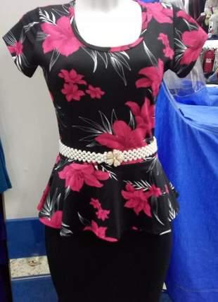 Vestido midi roupas femininas conjunto saias moda evangélica atacado promoção