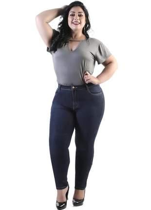 Calça jeans feminina sawary tamanhos grandes plus size 264135