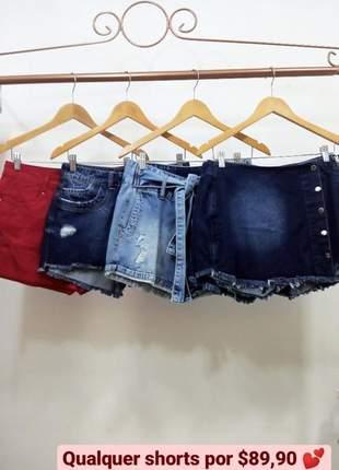 Shorts jeans com caimento perfeito