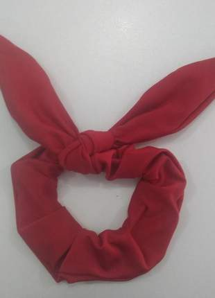 Xuxinha com elástico prendedor de cabelo laço scrunchies  vermelha