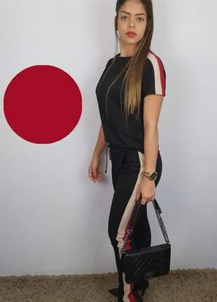 Conjunto calça e blusa moletinho com elastano 2020