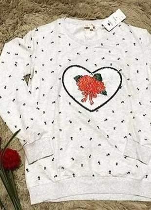 Blusa de frio feminina moletinho com estampa mágica exclusiva