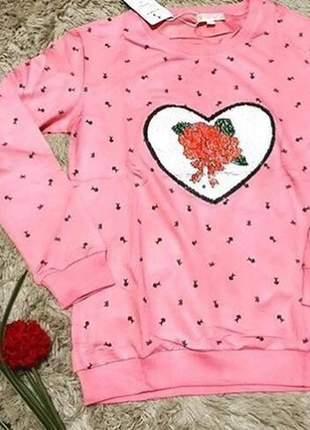 Blusa de frio feminina moletinho estampa mágica lançamento exclusiva
