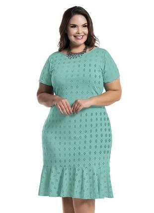 Vestido verde plus size