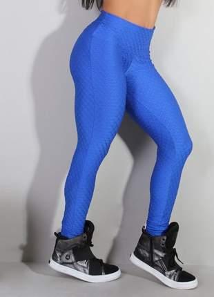 Calça legging fusô 3d azul