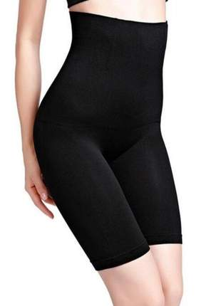 Cinta bermuda modeladora barriga 4 barbatanas corpo preto bege lingerie p m g gg