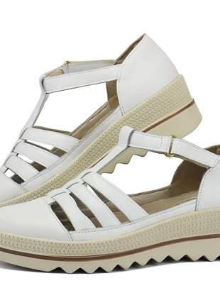 Kit tênis dad sneaker com assandalhado sapatofran em couro nude e branco