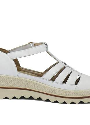 Kit tênis dad sneaker com assandalhado sapatofran em couro preto e branco