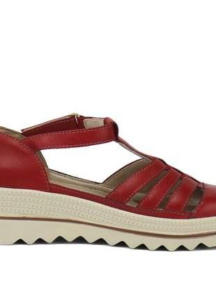 Kit tênis dad sneaker com assandalhado sapatofran em couro preto e vermelho