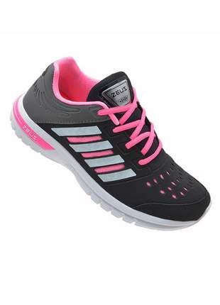 Tênis esportivo feminino caminhada corrida academia zeus