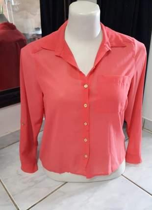 Camisa camisete de botões