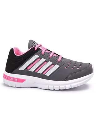 Tênis feminino zeus academia barato esportivo caminhada corrida casual (confortável)
