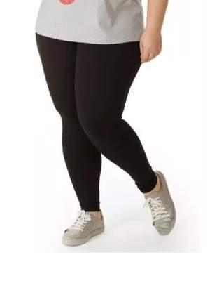Calça feminina legging colada plus size malhar academia