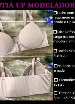 Sutiã up reforçado plus size 46 48 50 52 lingerie