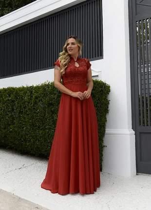 Vestido marsala de festa manguinha outono madrinhas formandas senhoras mãe noivos