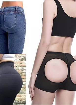 Shorts empina bumbum preto p m g gg modelo lingerie