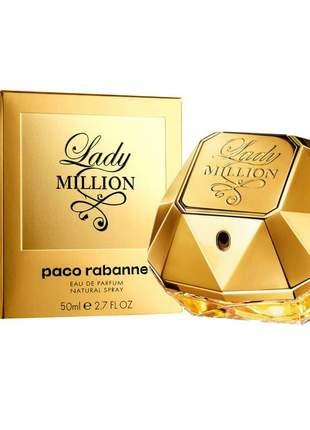Perfume lady million feminino eau de parfum 50ml - paco rabanne original