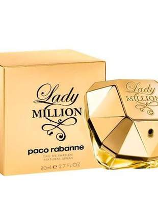 Perfume lady million feminino eau de parfum 80ml - paco rabanne original