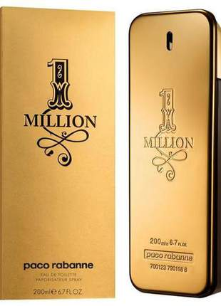 Perfume paco rabanne one million 200ml eau de toilette original