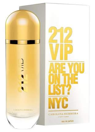 Carolina herrera perfume 212 vip feminino 125ml edp - 100% original