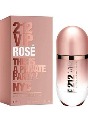 Carolina herrera 212 vip rosé 50ml perfume  lacrado + original