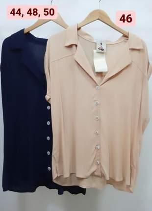 Camisa de crepe com manga curta
