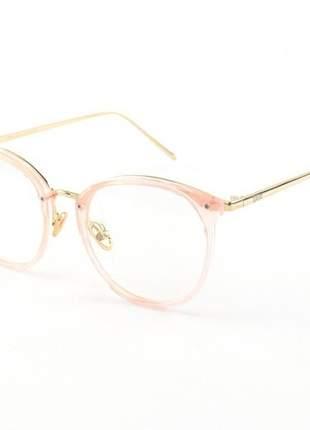 Armacao de óculos redonda feminina dior 2334 cd rosa