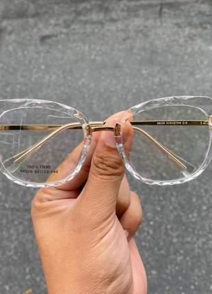 Oculos armação para grau gatinho mila - transparente