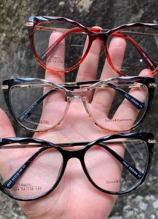 Armação de óculos gatinho dolce & gabbana dg2024