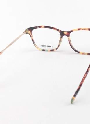 Óculos armação de grau - miu miu - vmu06p tartaruga e azul