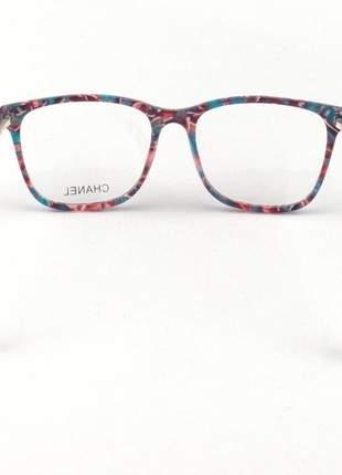 Armação de óculos quadrada chanel ch6824 colorida