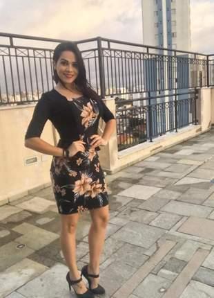 Vestido feminino evangélico com colete sobreposto com preço de atacado promoção