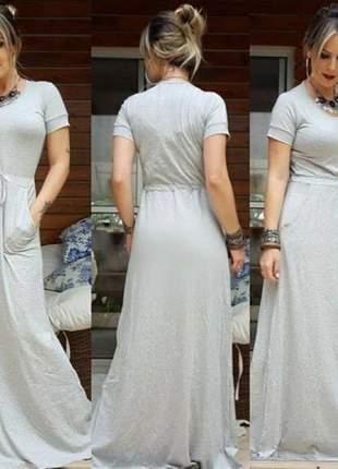 Vestido longo soltinho evangelico com manga curta lançamento verão