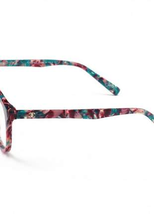 Armacao de óculos redonda chanel ch2930 colorida