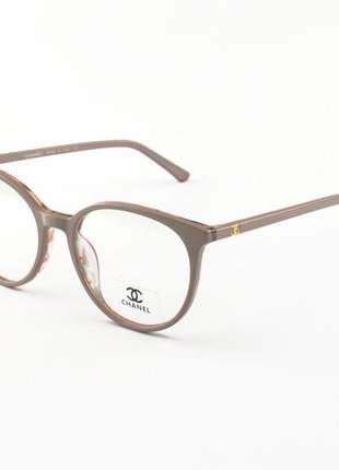 Armacao de óculos redonda chanel x1336 nude